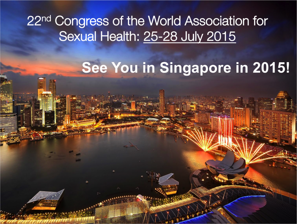 World Congress of Sexual Health in Singapore, July 2015